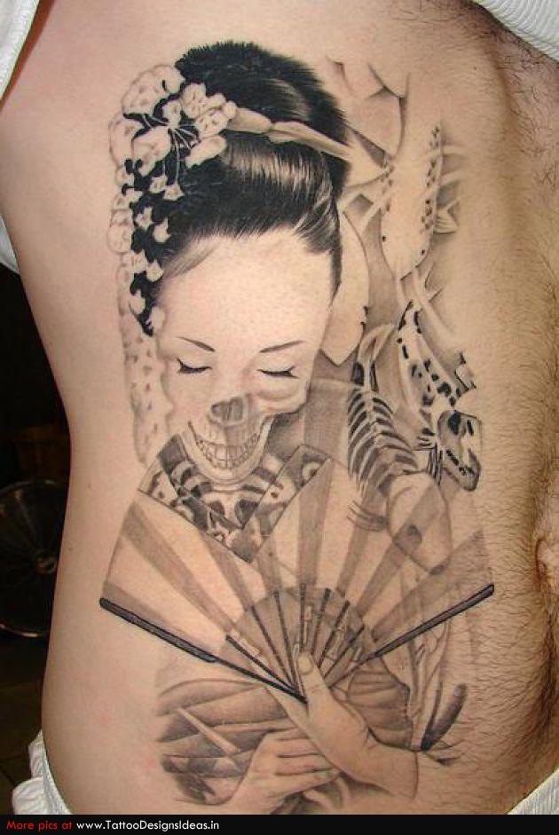 Tatto design of geisha tattoos tattoodesignsideas tattoomagz for Geisha tattoo meaning