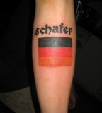 German Flag Tattoo for Football Lovers