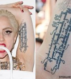 Lady Gagas Arm Tattoos & Meanings