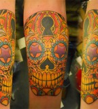 Lock And Key Sugar Skull Tattoo Ink Art Tattoos