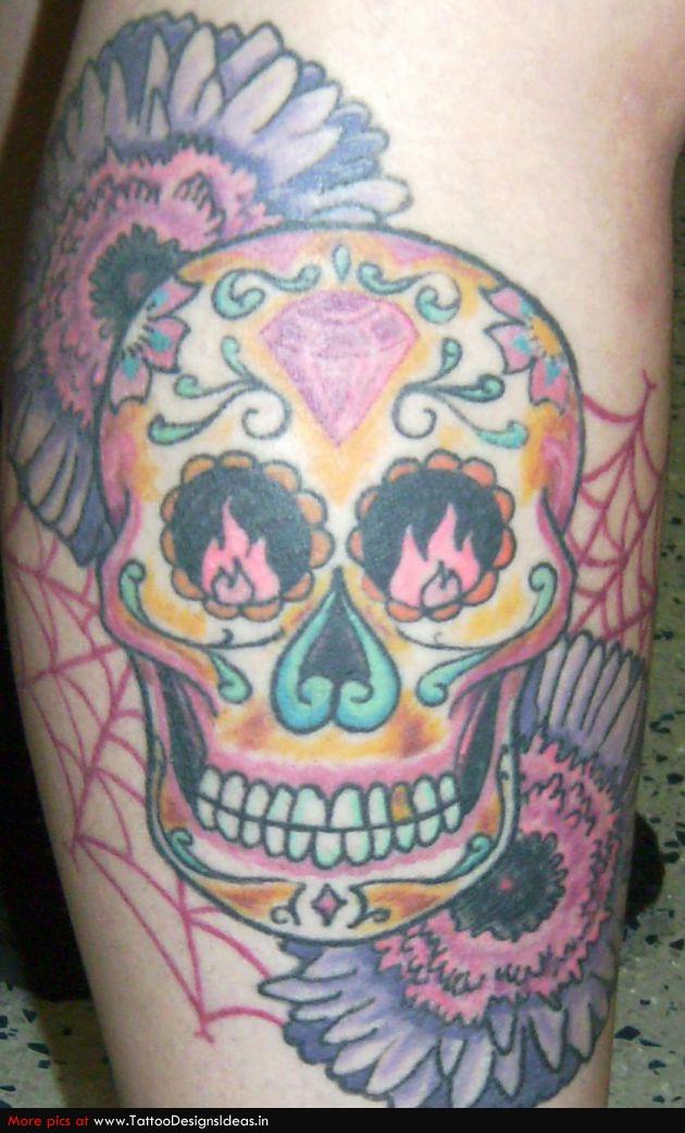 Girly Sugar Skull Tattoos | Tattoomagz.com � Tattoo Designs / Ink ...