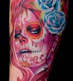 Sugar Skull Tattoos for Halloween