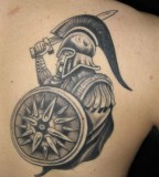 Greek Mythology Tattoo Design Ideas On The Back Shoulder