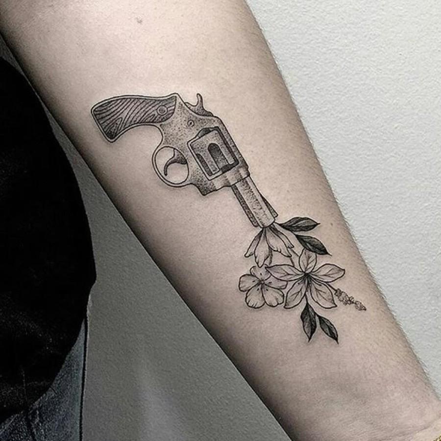 gun-shooting-flowers-tattoo-by-marla_moon