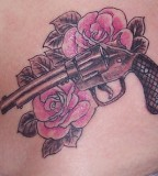 Classic Ink Tattoo - Gun And Roses Tattoo Ideas