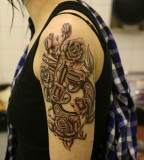 Girl Fashion Words Guns N Roses Tattoo