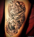 Gun And Roses Tattoo By Big Gus Photo Gallery