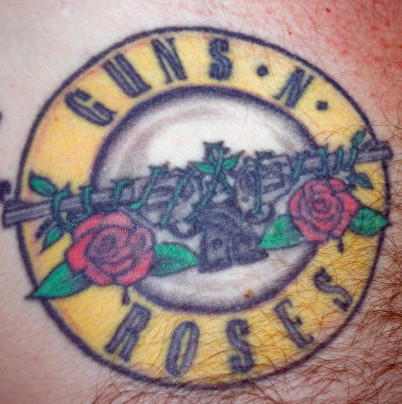 guns n roses tattoos logo tattoo tattoomagz. Black Bedroom Furniture Sets. Home Design Ideas
