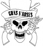 Guns And Roses Logo As Tattoo Design