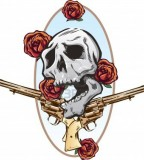 Skull / Guns / Roses Tattoos Design