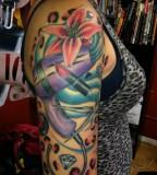 Fascinating Half Self Sleeve Tattoo Designs for Women
