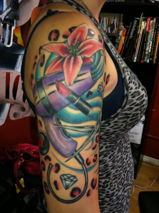 Fascinating Half Self Sleeve Tattoo Designs For Women Tattoomagz