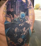 Batman Sleeve Tattoo Designs Ideas for Men and Women