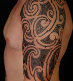 Exotic Half Sleeve Tattoo for Cool Man