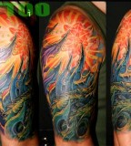 Colorfull Half Sleeve Tattoo Art Gallery