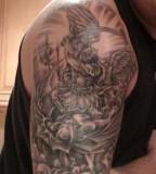Fighting Demon Sleeve Tattoo Designs