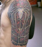 Spiderman Half Sleeve Tattoo Designs for Men