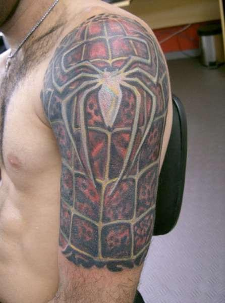 Spiderman Half Sleeve Tattoo Designs for Men - TattooMagz