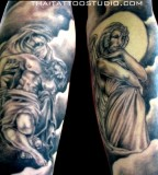 Angel Half Sleeve Tattoo Designs