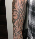 Tribal Freehand Half Sleeve Tattoo for Men