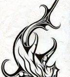 Imaginary Tribal Hammerhead Shark Tattoo Design