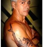 Polynesian Hammerhead Shark Arm Tattoo For Men