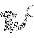 Maori Hammerhead Shark With Superb Tribal Tattoo Design