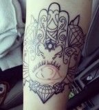 Gorgeous Hamsa Hand Tattoo