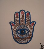Religious Hamsa Hand of God Tattoo Design Idea