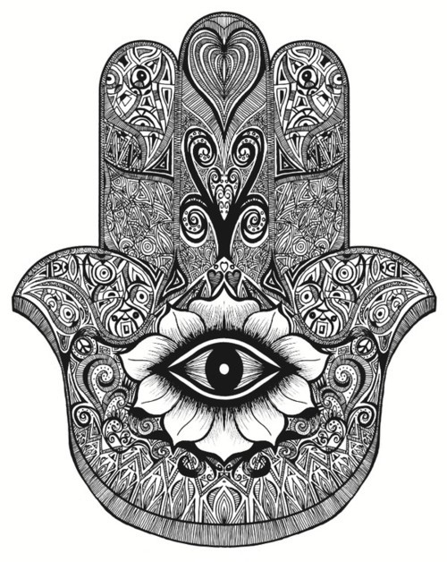 Evil Eye Hand Tattoo
