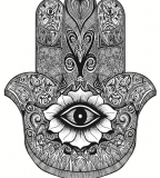 Hand Of Mary Sketch for Tattoo