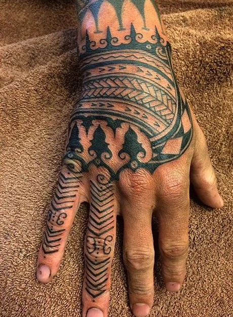 hand tribal tattoo