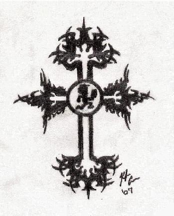 Dark Lotus Cross Tribal dark lotus and