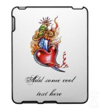 Picturesque Heart and Dagger in Flames tattoo iPad Cases By TheGreatestTattooArt