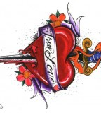 Attractive Heart And Dagger Tattoo Design Ideas