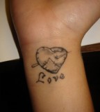Cool Heart Tattoo Design For Wrist