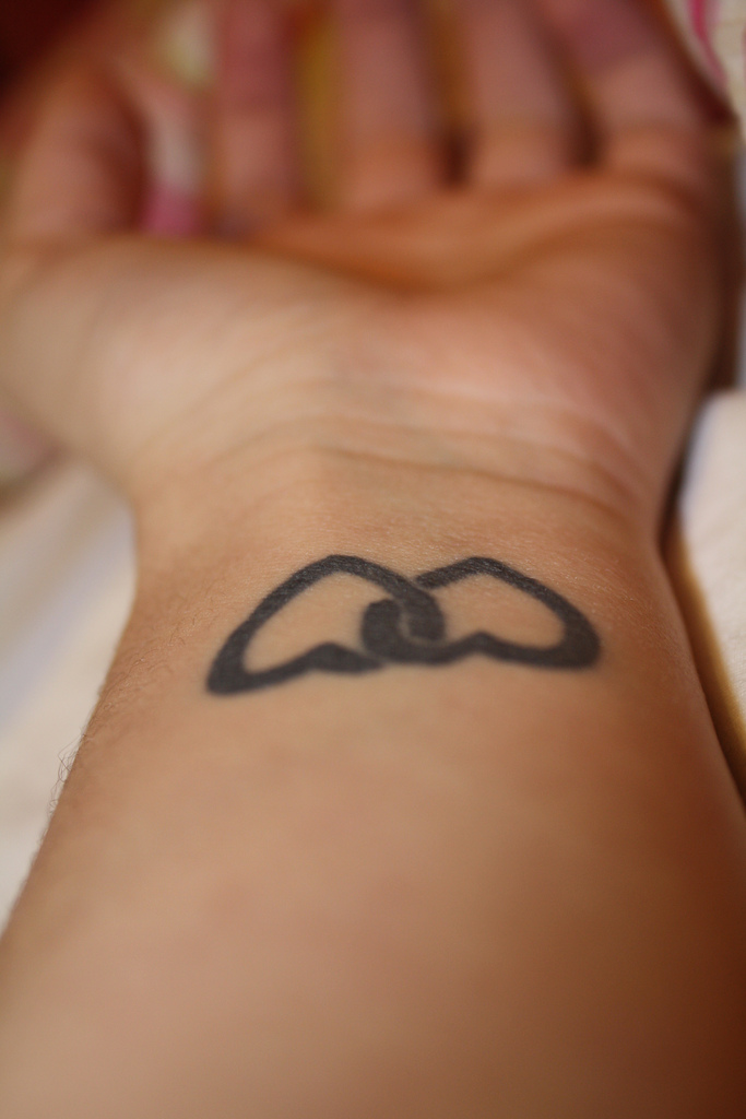 Heart tattoos for girls on wrist for Wrist tattoo girl