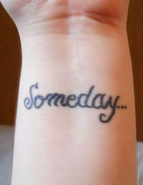Small Cute Someday Wrist Tattoos For Girls Sizzling ...