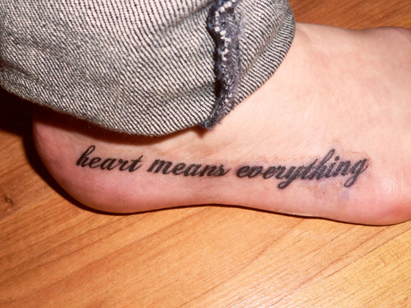 Word Tattoos For Women Philosophical Quote Foot Tattoo - the 25 best ...