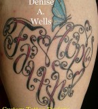 Faith And Hope Made Into A Heart Shaped Tattoo By Denise A Wells
