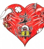 Finished Heart Lock Tattoo By Darkfart2264