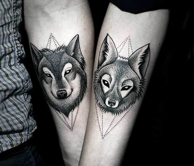his-and-hers-wolf-tattoos