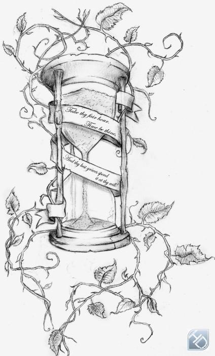 broken hourglass tattoo. Black Bedroom Furniture Sets. Home Design Ideas