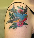 Beautiful Hummingbird Tattoo On Shoulder