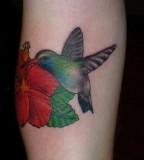 Beautiful Hummingbird Inked In Memory Of Deceased Brother