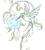 Hummingbird Tattoo Sketch By Meryllknight