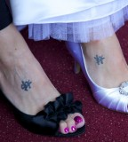 Sisters  Simple Details Tattoo Photo On Foot