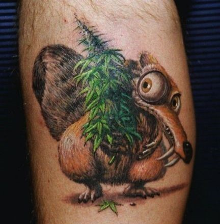 ice age squirrel tattoo
