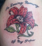 In Loving Memory Of My Papa Memorial Rose Tattoo Design Picture