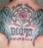 Full Back In Loving Memory Tattoo Design Picture